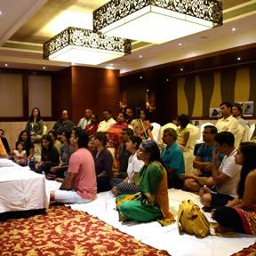 in the prsence of your guru